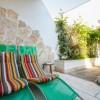 armchairs in garden