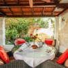 sitting area in garden